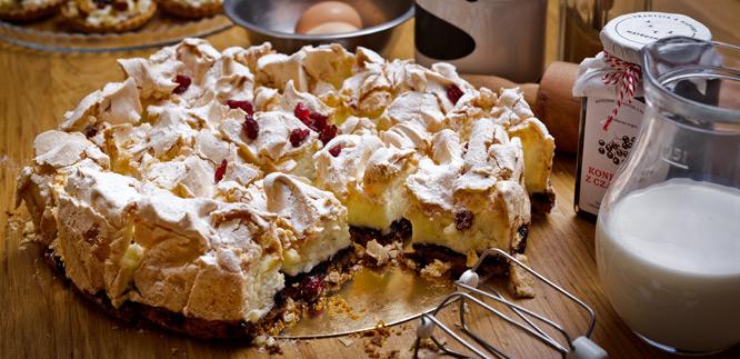 Matecznik Tradycja z Natury - Kruche ciasto piankowe z konfiturą jagodową